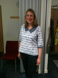 Pippa's Shirt - Beautiful bicycle fabric!