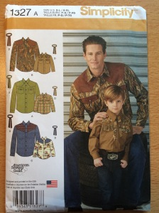 Simplicity 1327 Boys' and Men's Western Shirt