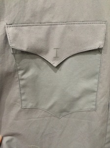 Close up of the pocket
