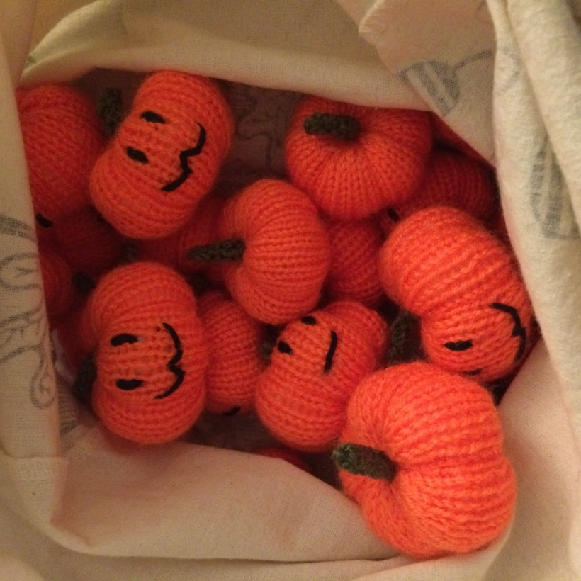 Knitting Pumpkins