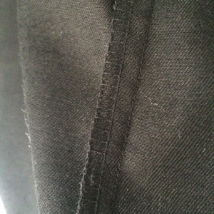 Overlocked seam allowance (I do love my overlocker!)