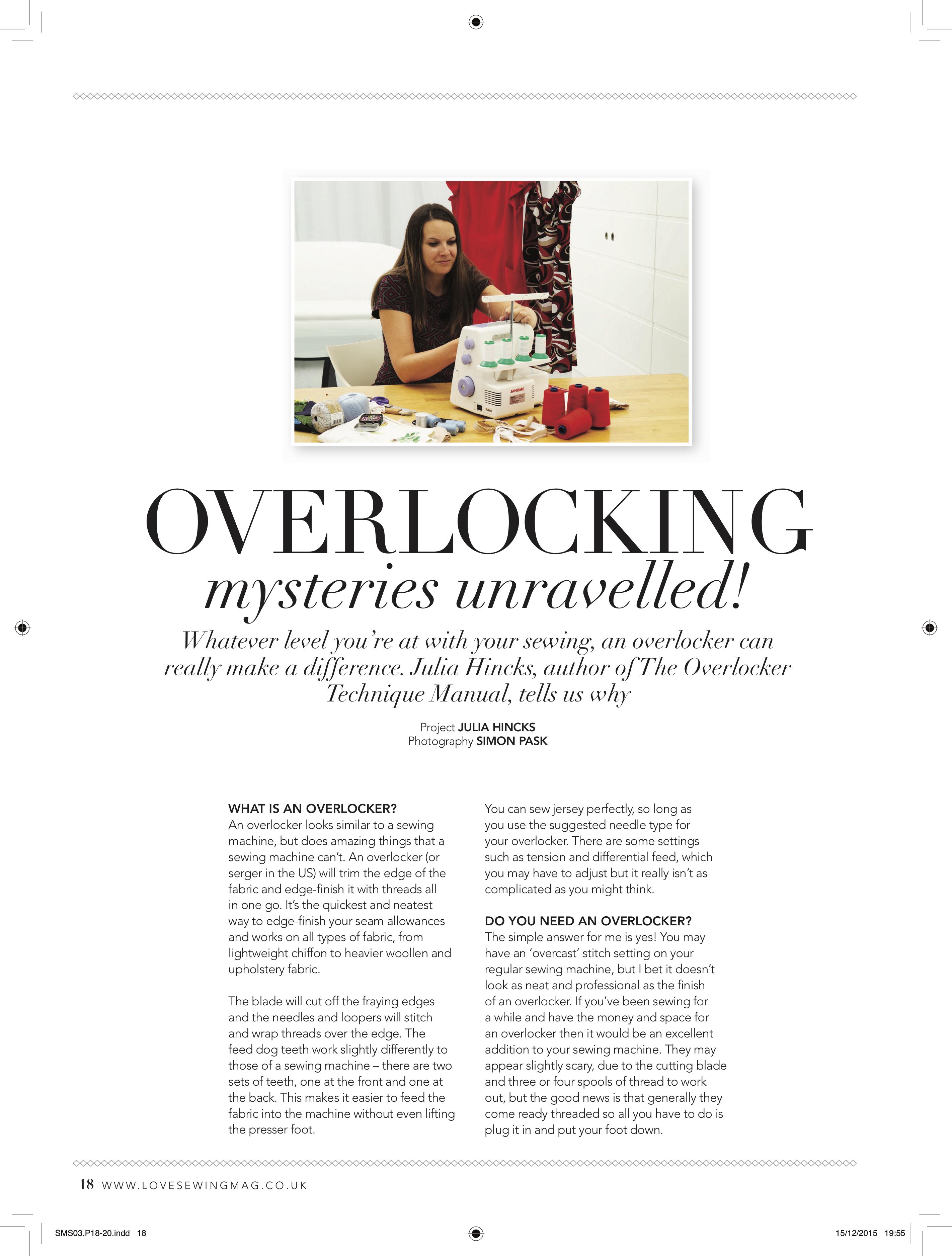 Do you need an Overlocker? – Julia Hincks